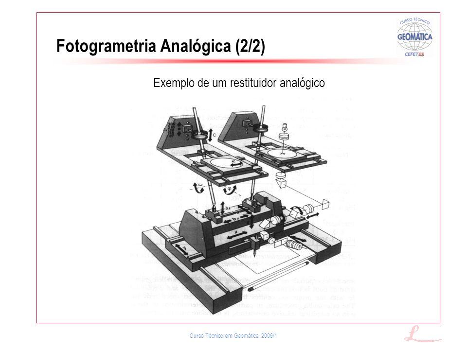 Fotogrametria Analógica (2/2)