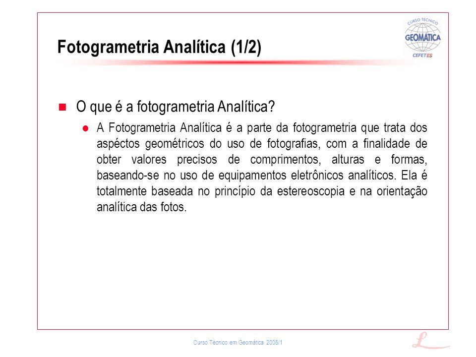 Fotogrametria Analítica (1/2)