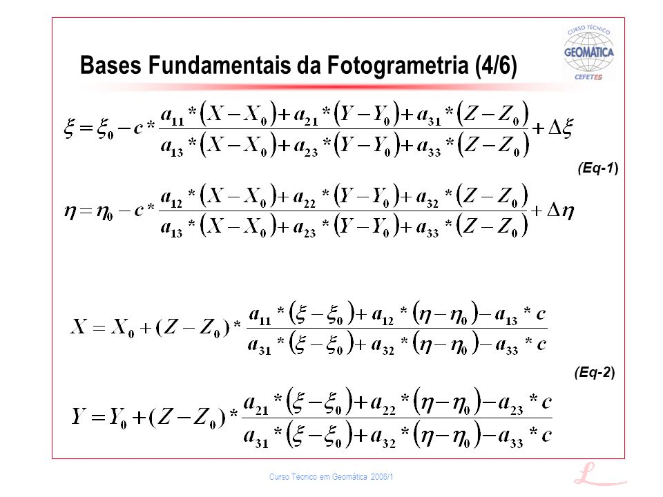 Bases Fundamentais da Fotogrametria (4/6)