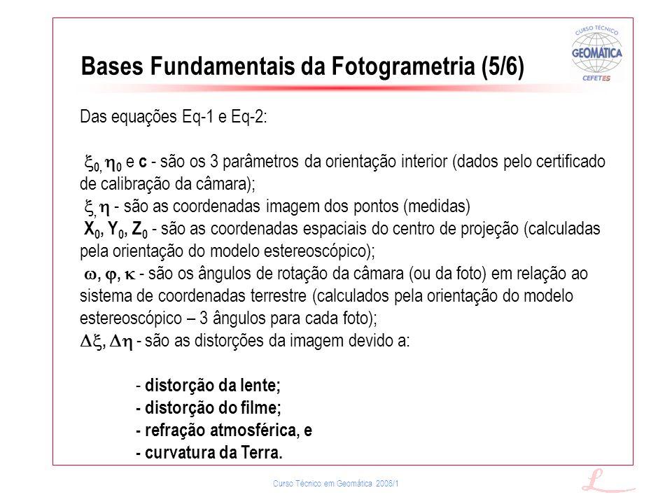 Bases Fundamentais da Fotogrametria (5/6)