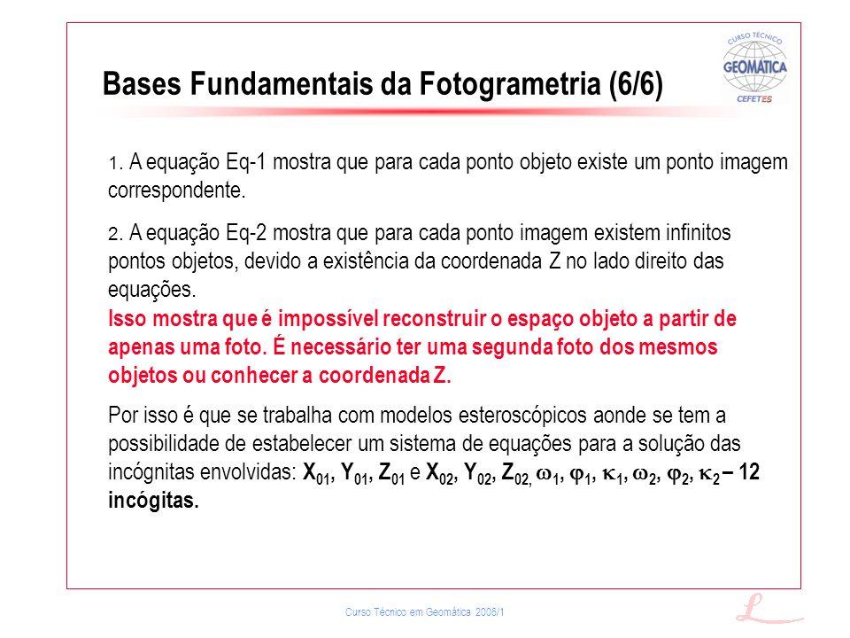 Bases Fundamentais da Fotogrametria (6/6)