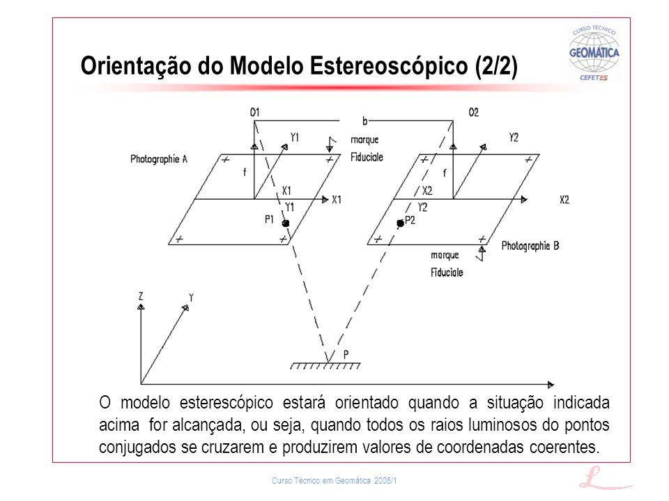 Orientação do Modelo Estereoscópico (2/2)