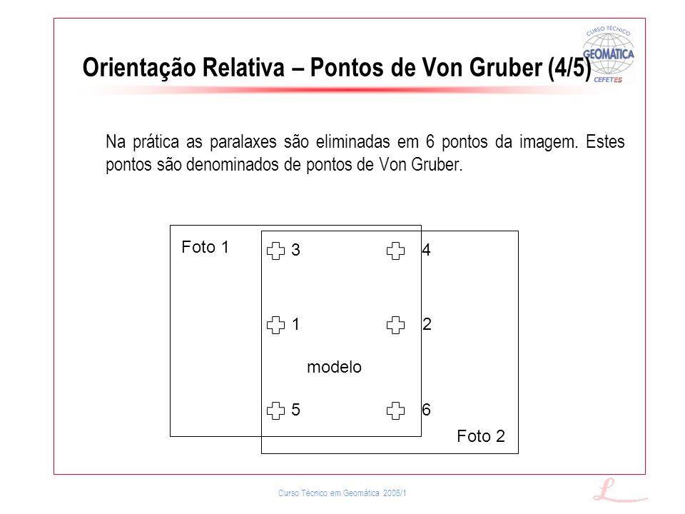 Orientação Relativa – Pontos de Von Gruber (4/5)
