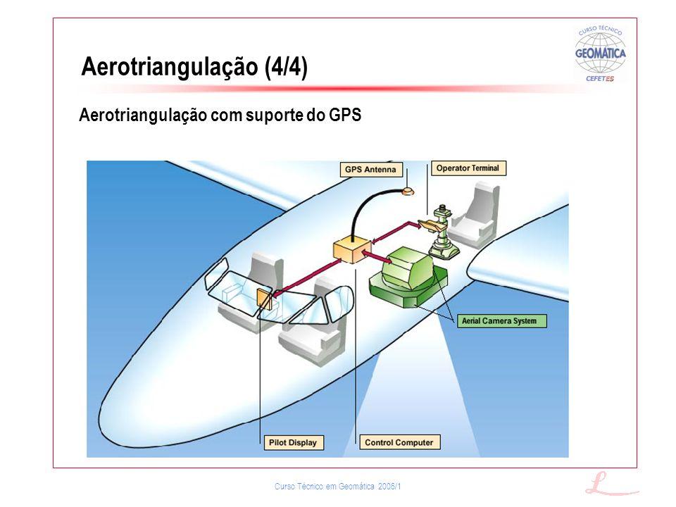Aerotriangulação (4/4) Aerotriangulação com suporte do GPS