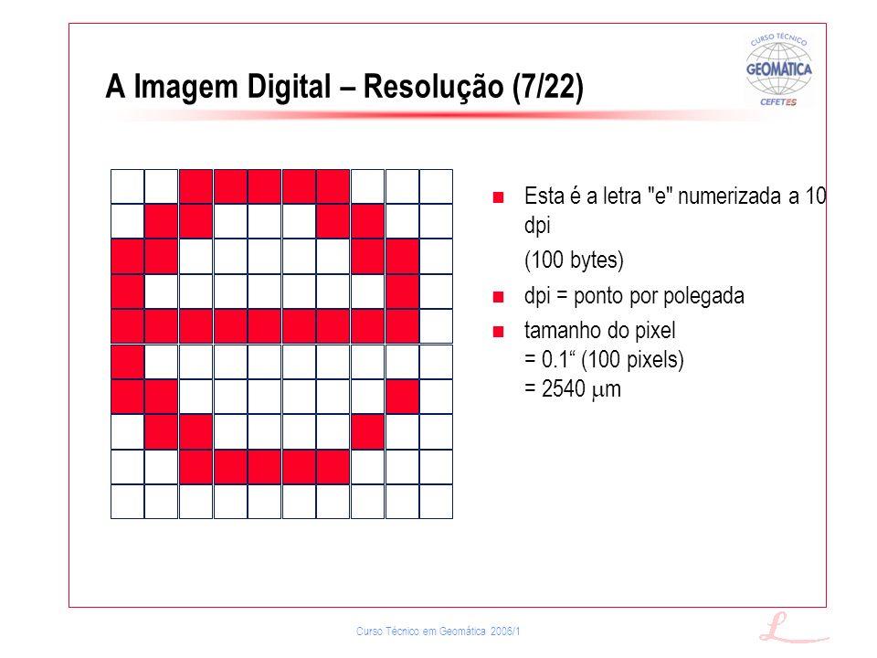 A Imagem Digital – Resolução (7/22)