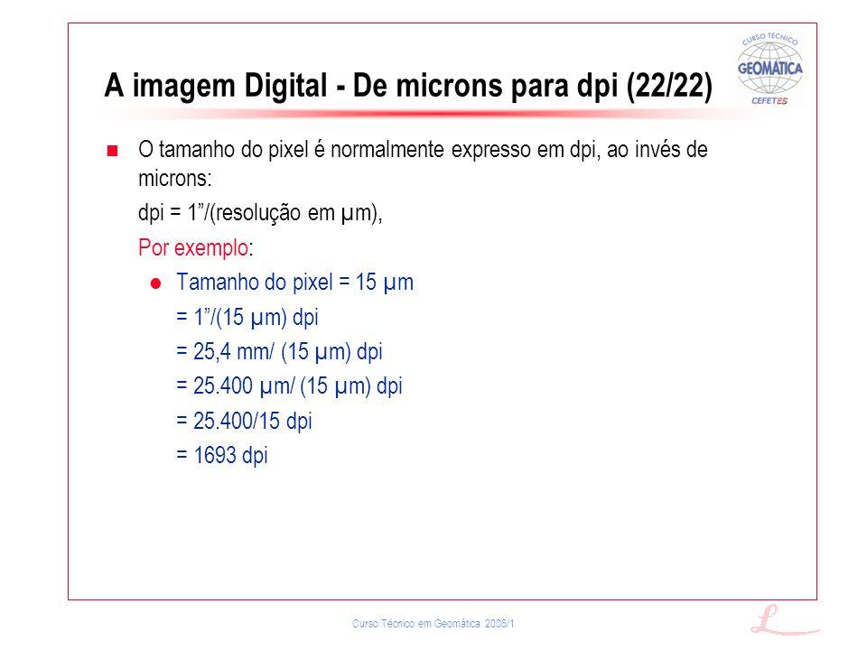 A imagem Digital - De microns para dpi (22/22)