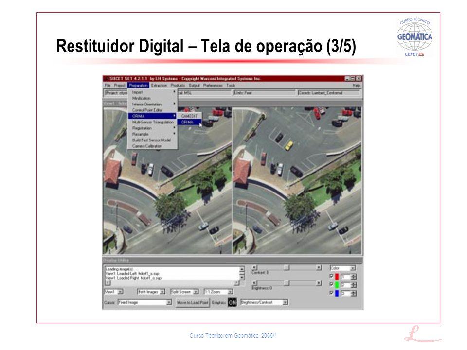 Restituidor Digital – Tela de operação (3/5)
