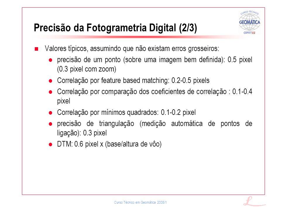 Precisão da Fotogrametria Digital (2/3)
