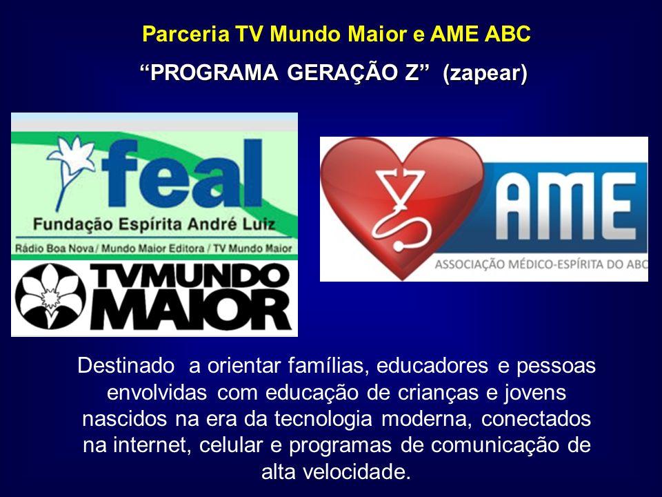 Parceria TV Mundo Maior e AME ABC PROGRAMA GERAÇÃO Z (zapear)