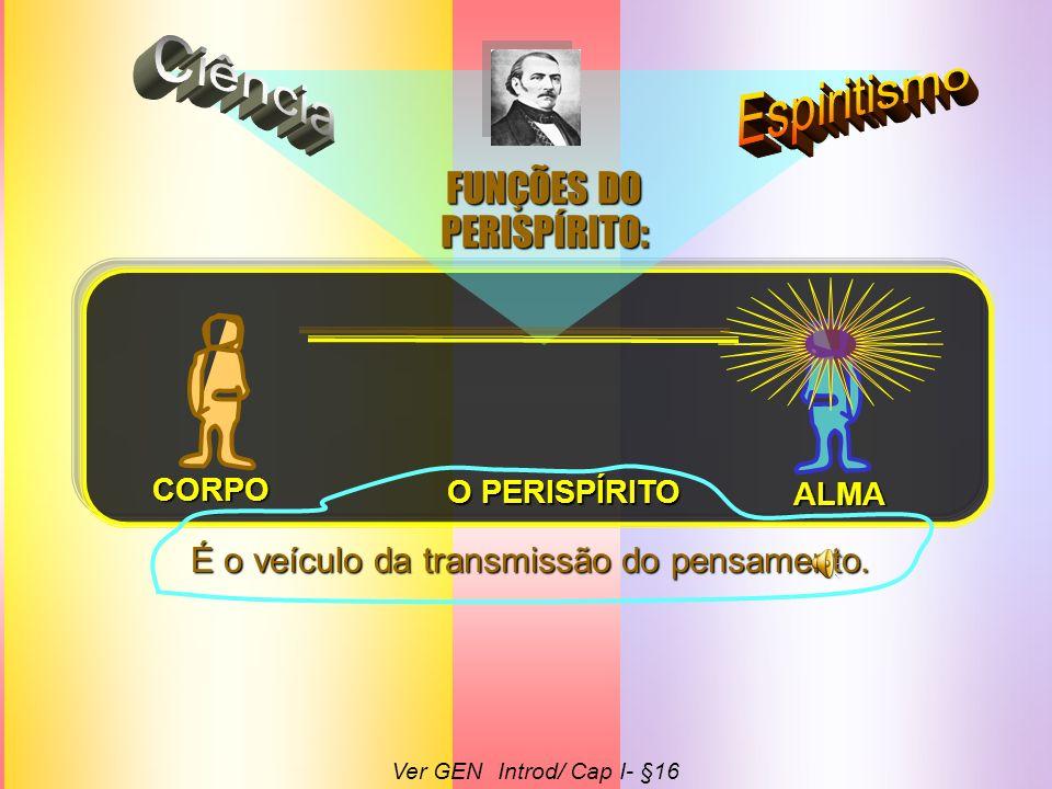 Ciência Espiritismo FUNÇÕES DO PERISPÍRITO: