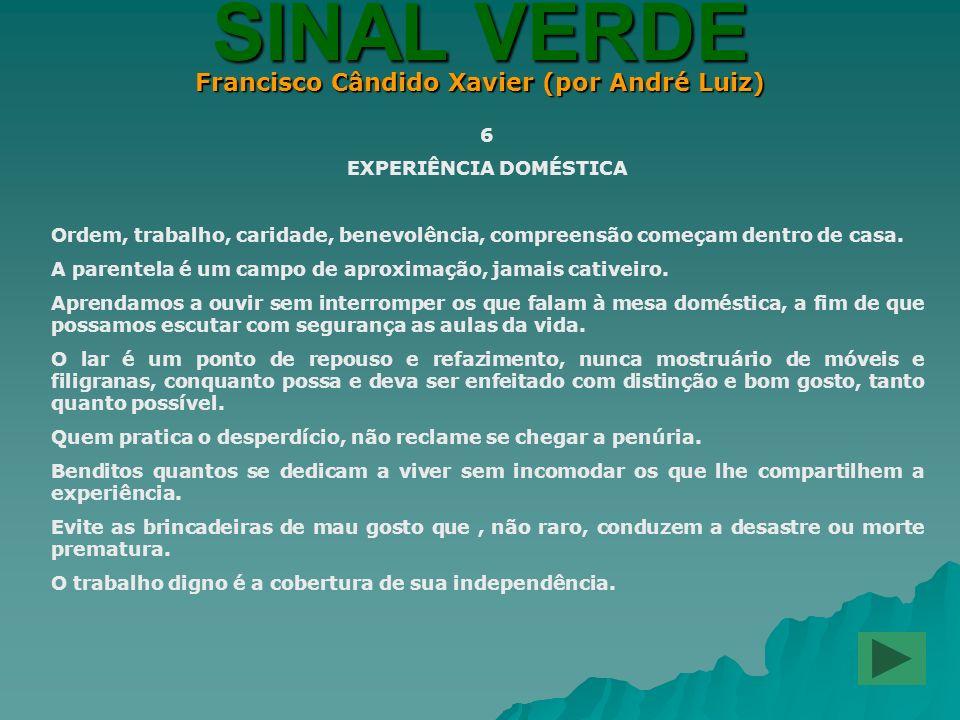 Francisco Cândido Xavier (por André Luiz) EXPERIÊNCIA DOMÉSTICA