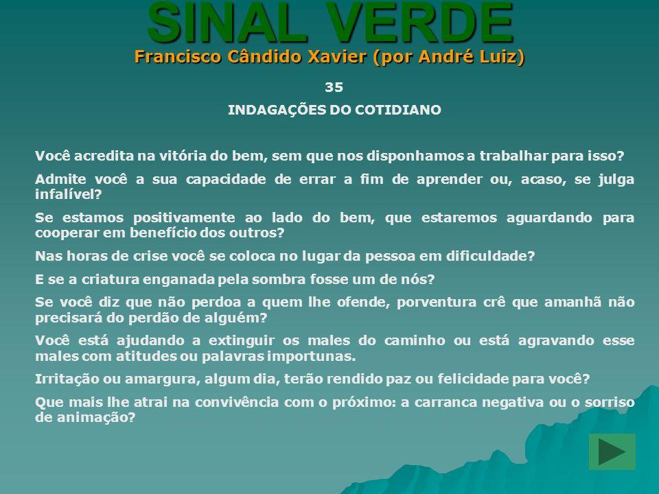 Francisco Cândido Xavier (por André Luiz) INDAGAÇÕES DO COTIDIANO