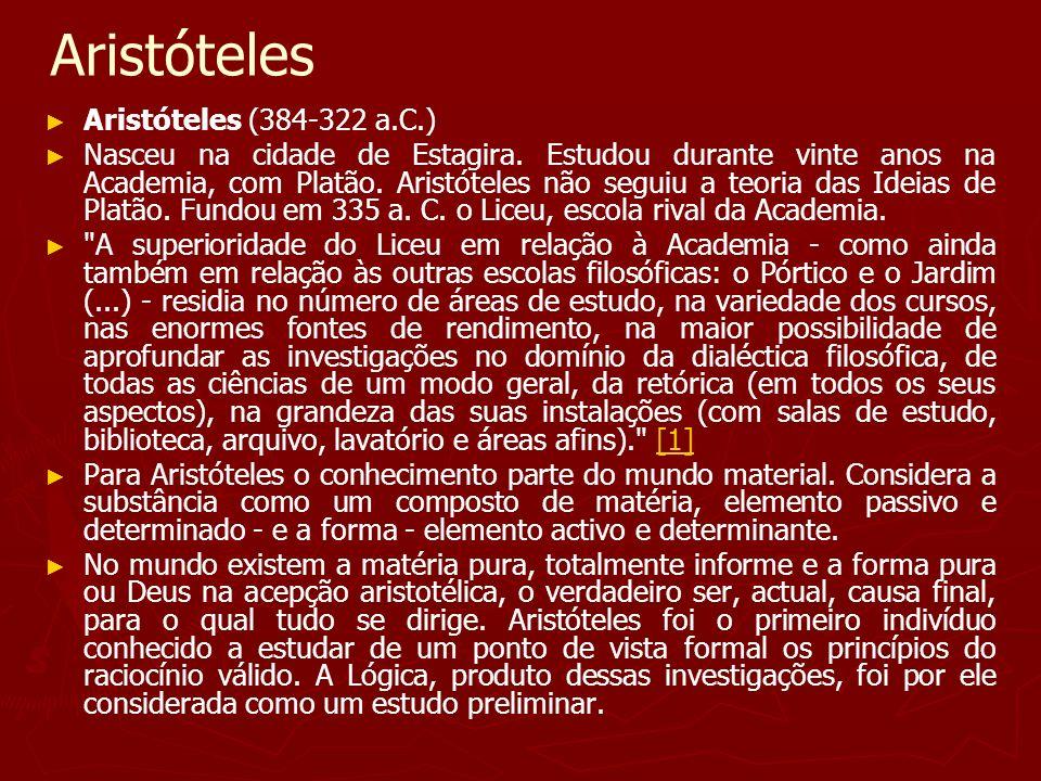 Aristóteles Aristóteles (384-322 a.C.)