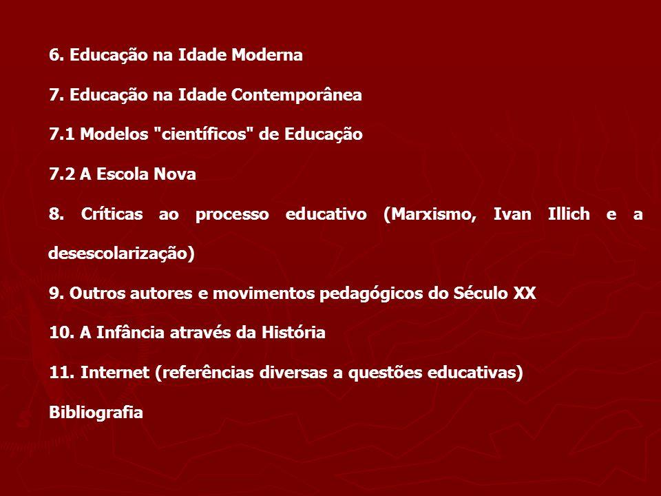6. Educação na Idade Moderna
