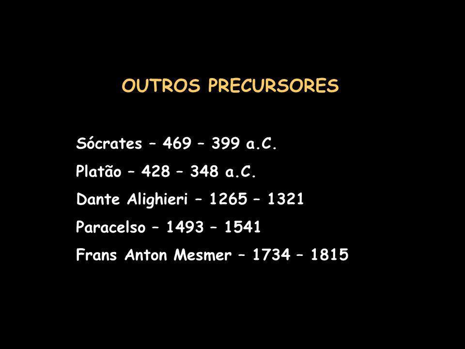 OUTROS PRECURSORES Sócrates – 469 – 399 a.C. Platão – 428 – 348 a.C.