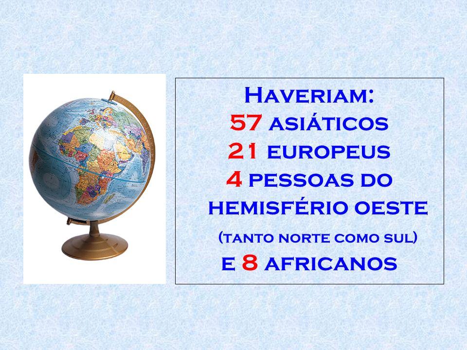 4 pessoas do hemisfério oeste (tanto norte como sul)