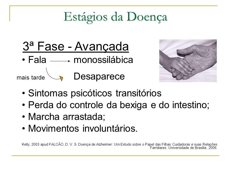 Estágios da Doença 3ª Fase - Avançada • Fala monossilábica