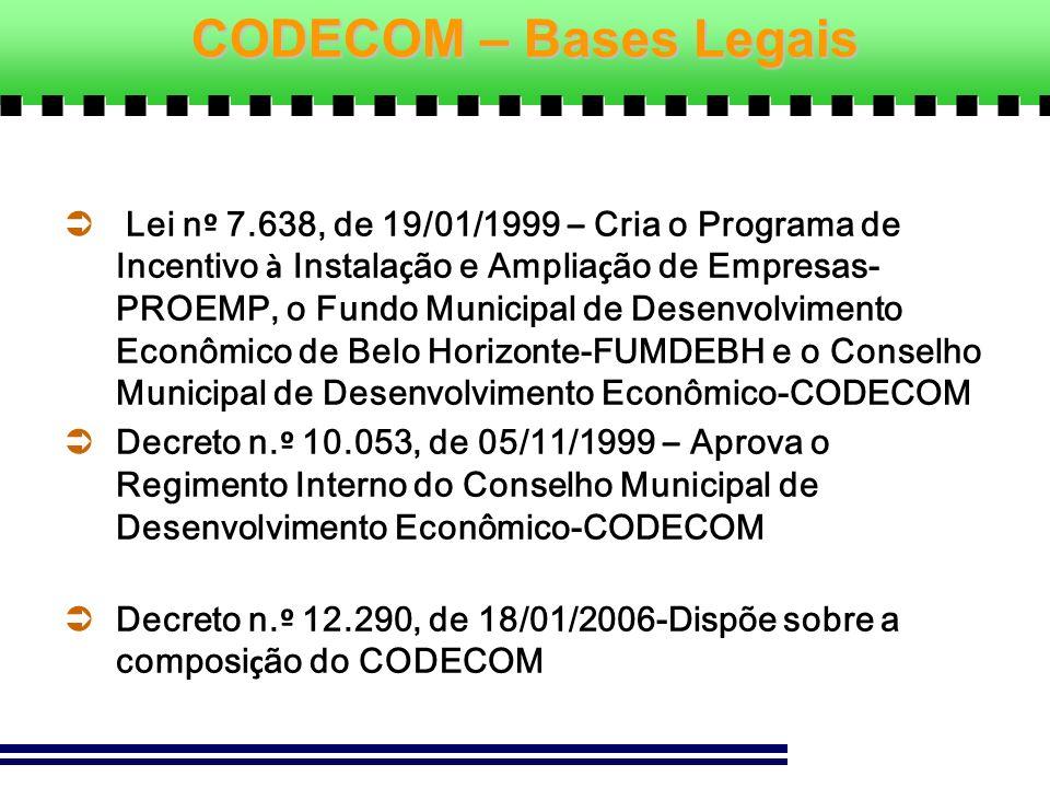 CODECOM – Bases Legais