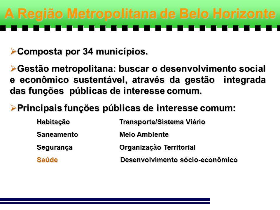 A Região Metropolitana de Belo Horizonte