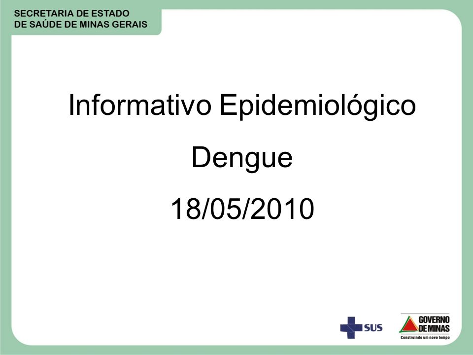 Informativo Epidemiológico