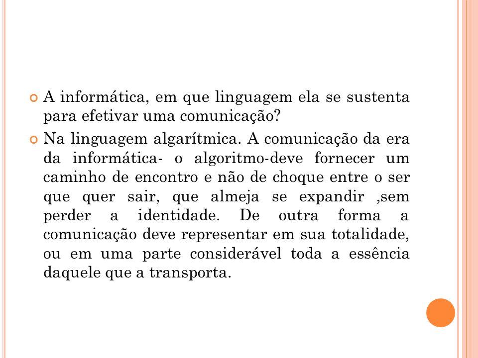 A informática, em que linguagem ela se sustenta para efetivar uma comunicação