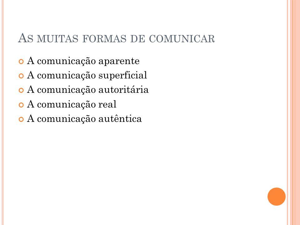 As muitas formas de comunicar