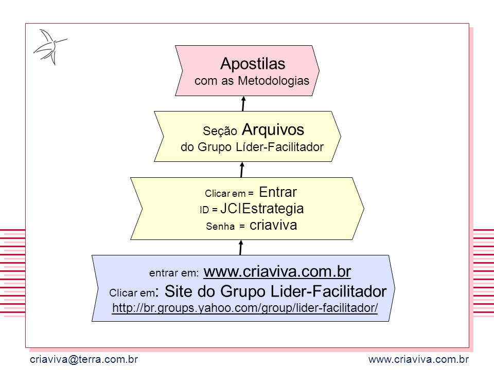 entrar em: www.criaviva.com.br
