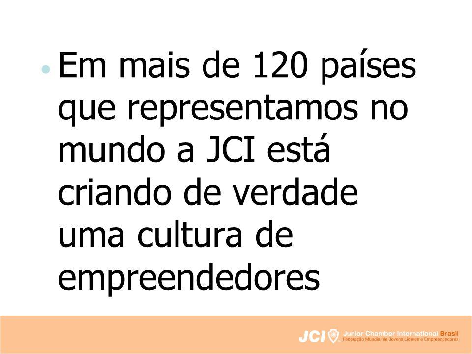 Em mais de 120 países que representamos no mundo a JCI está criando de verdade uma cultura de empreendedores