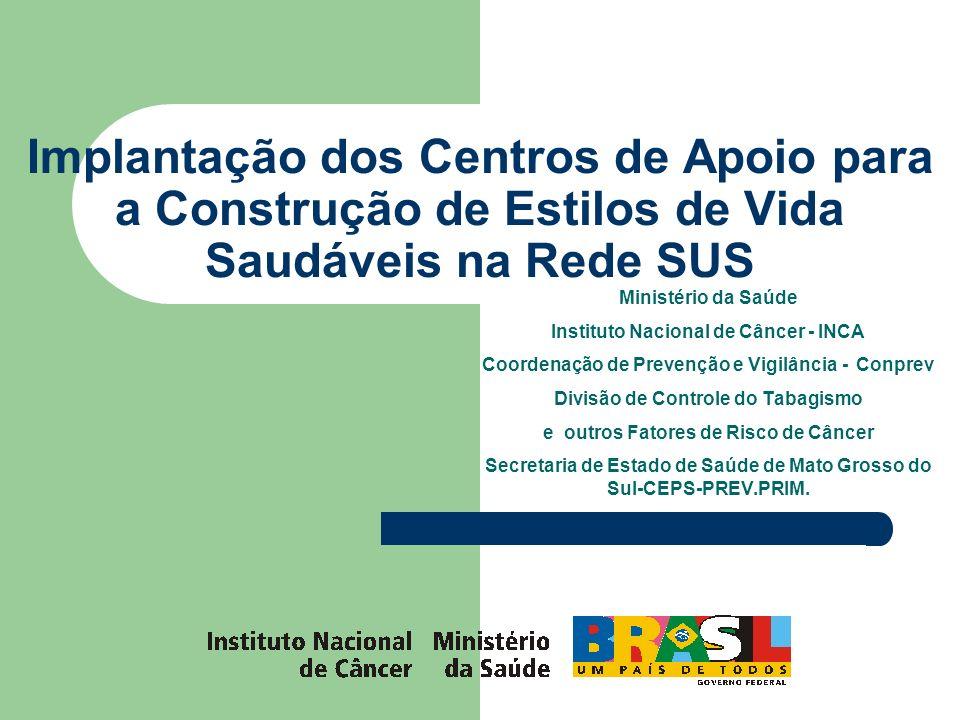 Implantação dos Centros de Apoio para a Construção de Estilos de Vida Saudáveis na Rede SUS