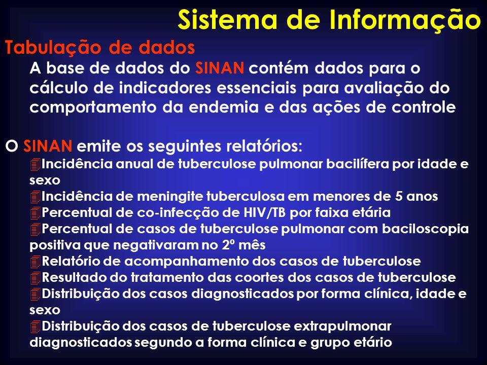 Sistema de Informação Tabulação de dados