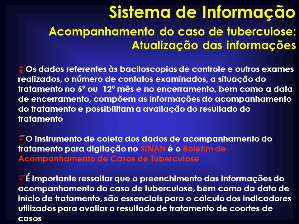 Sistema de Informação Acompanhamento do caso de tuberculose: Atualização das informações.