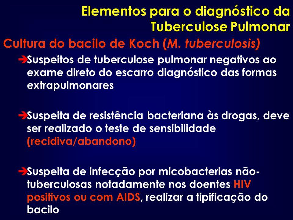 Elementos para o diagnóstico da Tuberculose Pulmonar