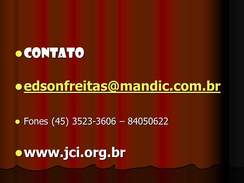 CONTATO edsonfreitas@mandic.com.br www.jci.org.br