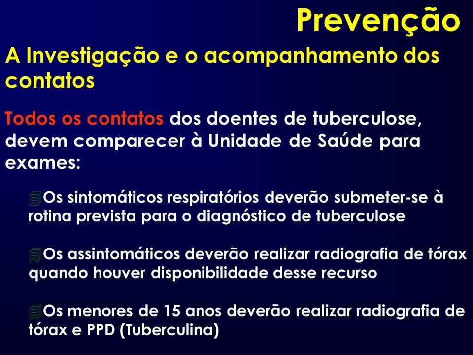 Prevenção A Investigação e o acompanhamento dos contatos