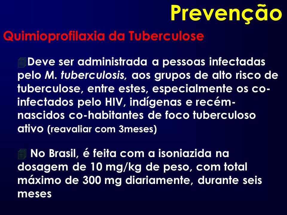 Prevenção Quimioprofilaxia da Tuberculose