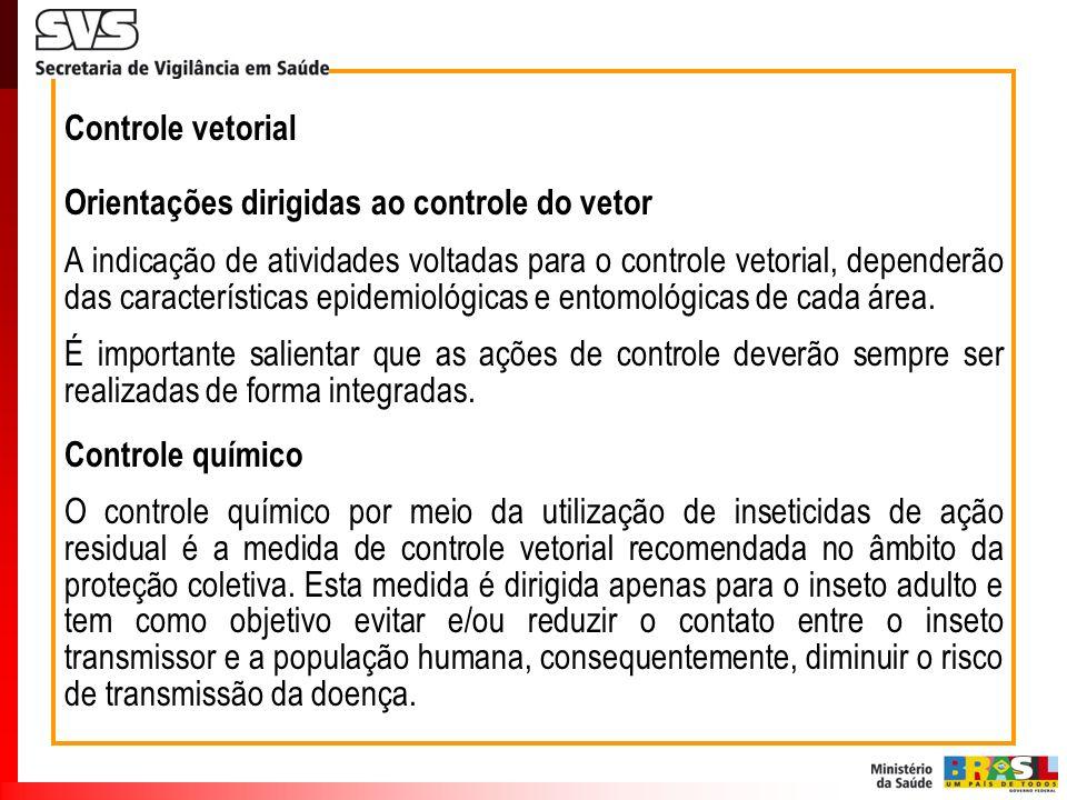 Controle vetorial Orientações dirigidas ao controle do vetor.