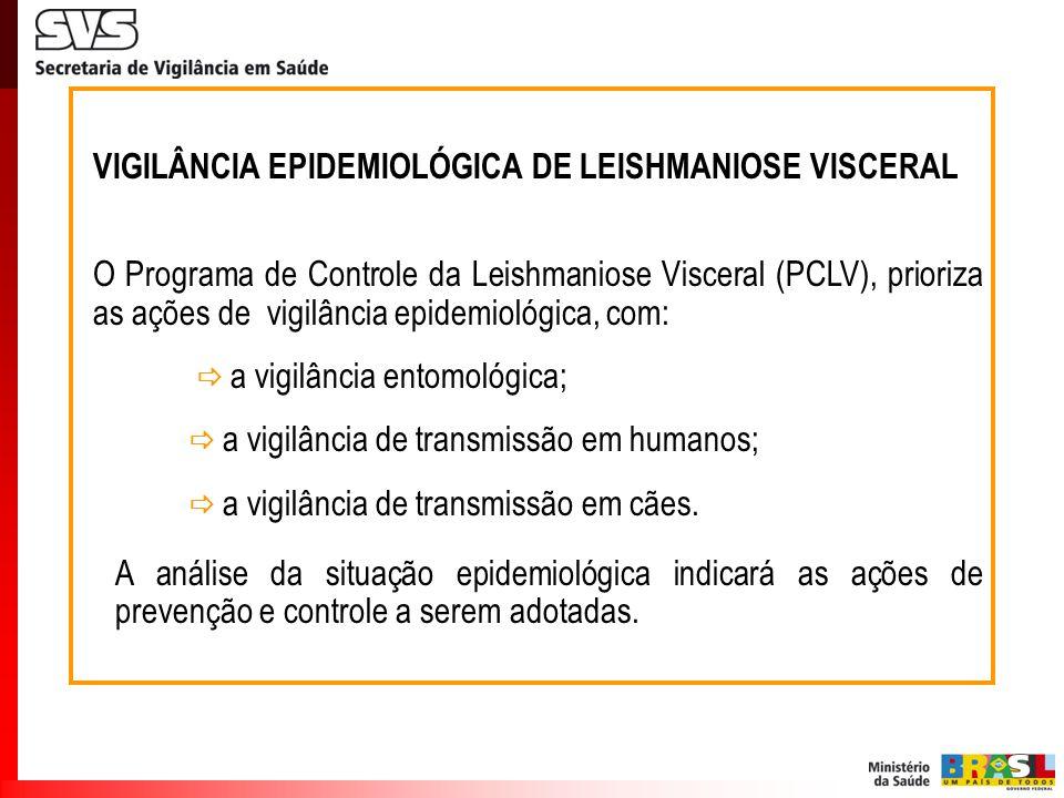 VIGILÂNCIA EPIDEMIOLÓGICA DE LEISHMANIOSE VISCERAL