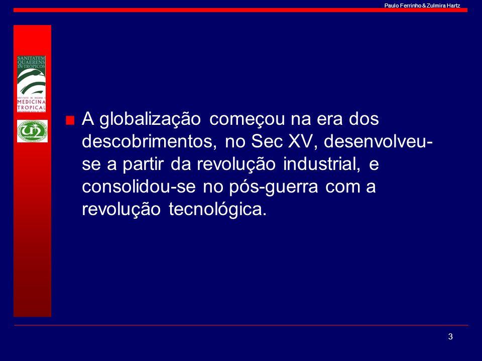A globalização começou na era dos descobrimentos, no Sec XV, desenvolveu-se a partir da revolução industrial, e consolidou-se no pós-guerra com a revolução tecnológica.