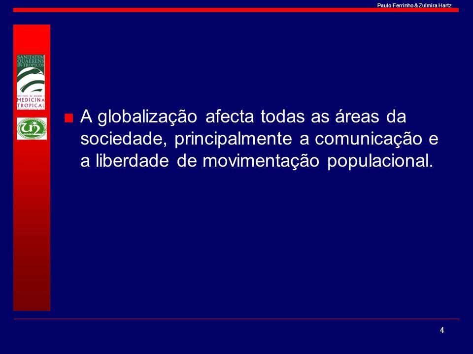 A globalização afecta todas as áreas da sociedade, principalmente a comunicação e a liberdade de movimentação populacional.