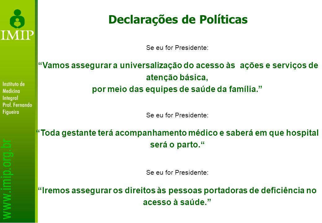 Declarações de Políticas