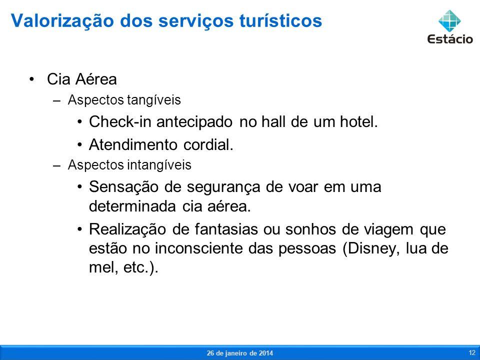 Valorização dos serviços turísticos
