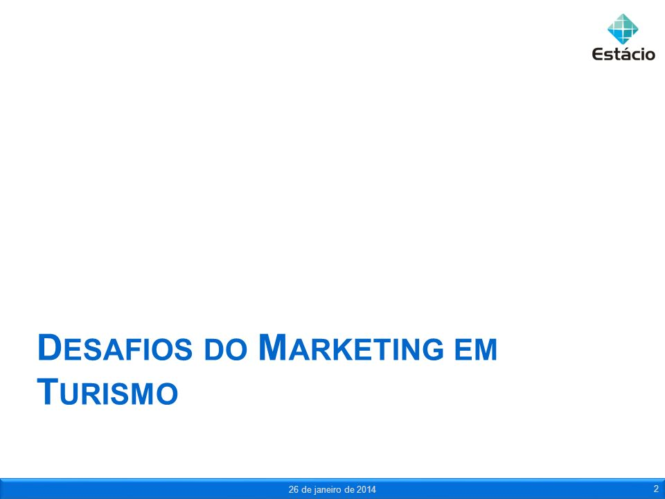 Desafios do Marketing em Turismo