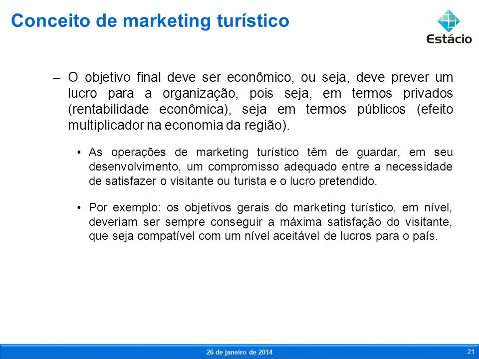 Conceito de marketing turístico
