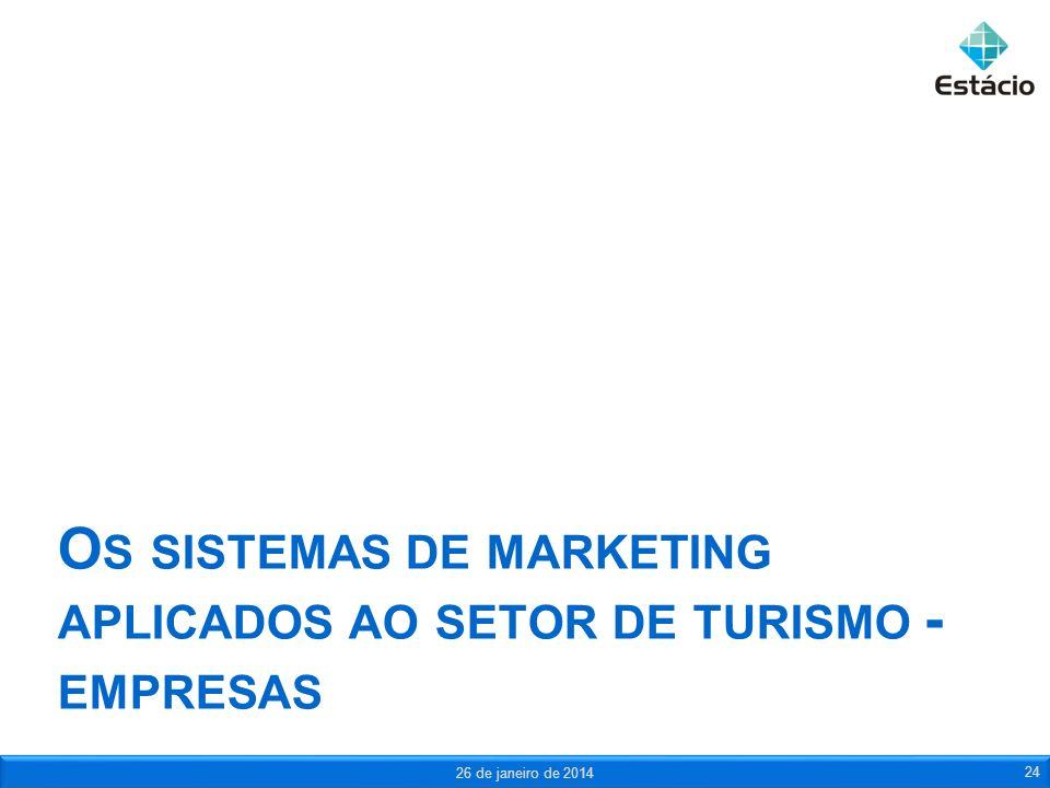 Os sistemas de marketing aplicados ao setor de turismo - empresas