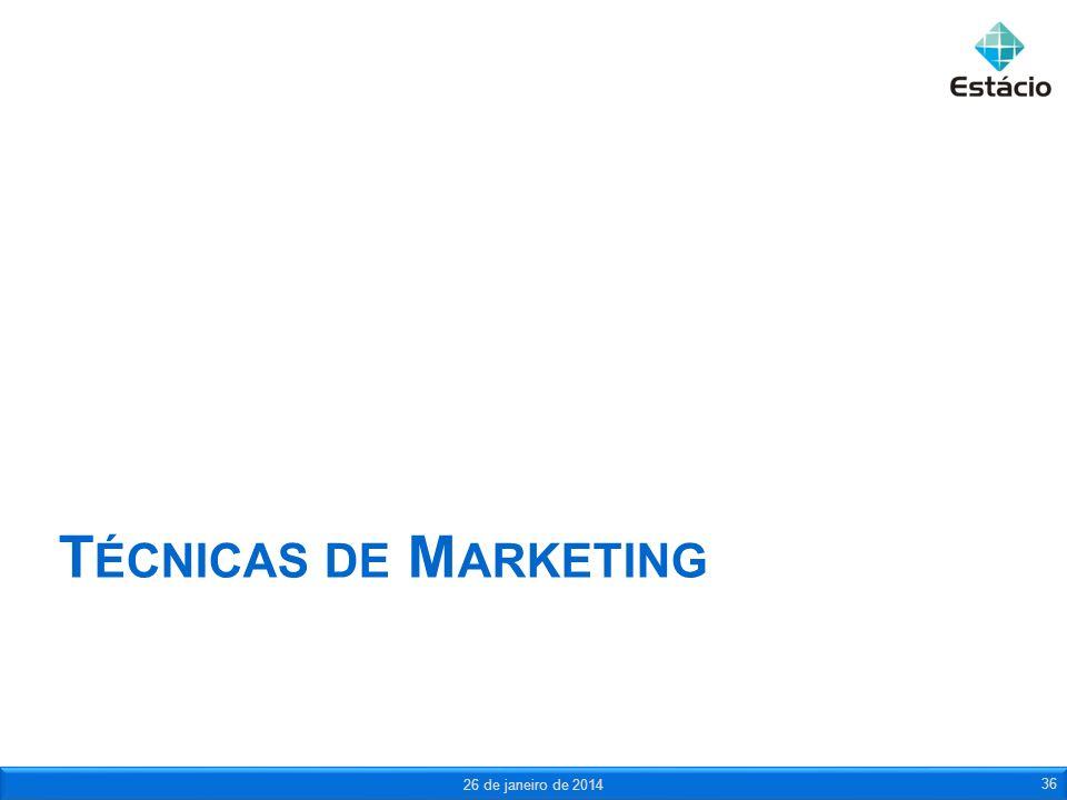 Técnicas de Marketing 25 de março de 2017