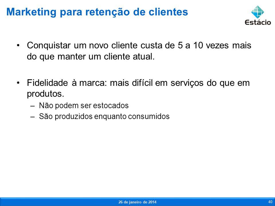 Marketing para retenção de clientes