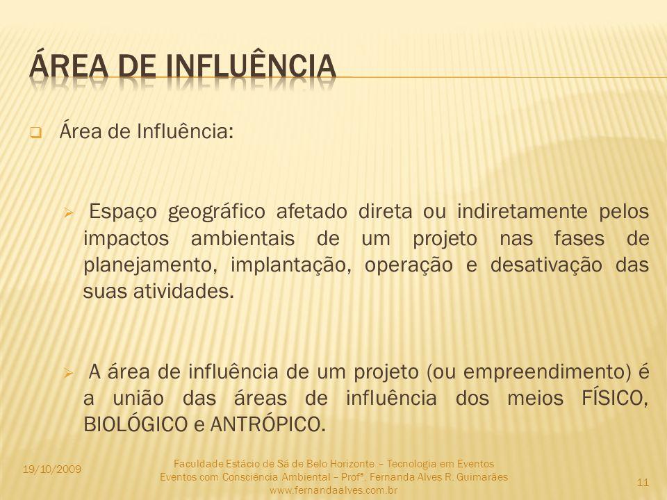ÁREA DE INFLUÊNCIA Área de Influência: