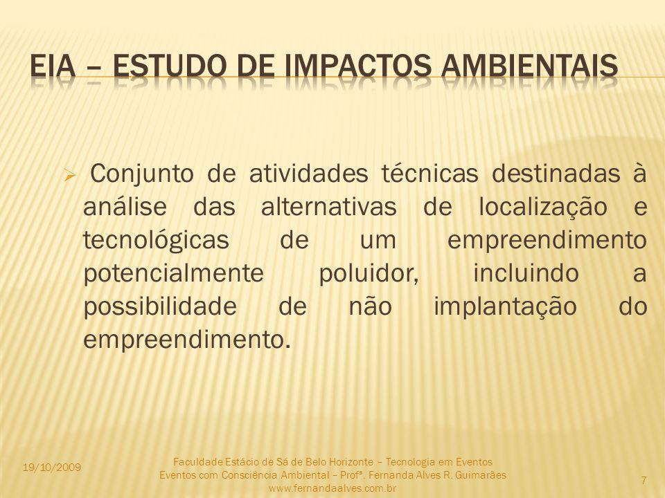 EIA – ESTUDO DE IMPACTOS AMBIENTAIS