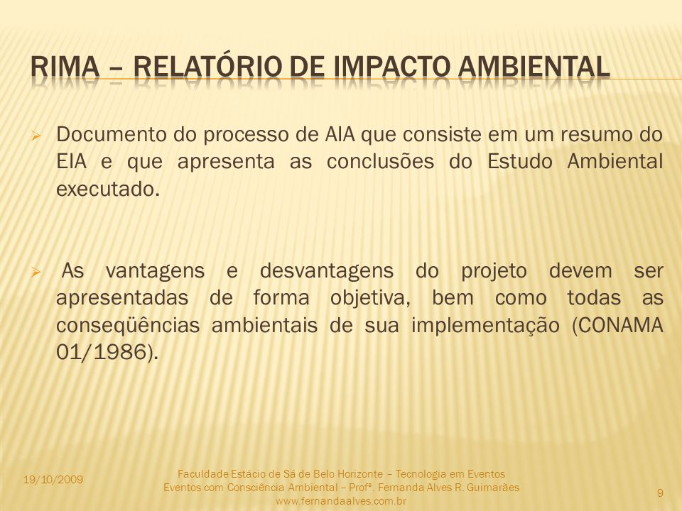 RIMA – RELATÓRIO DE IMPACTO AMBIENTAL