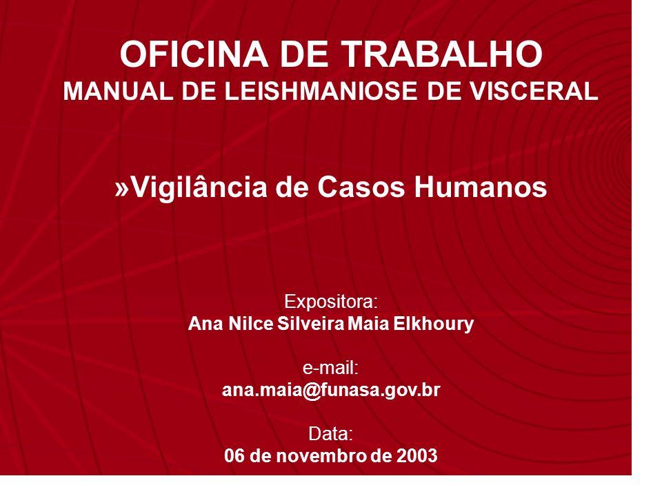 OFICINA DE TRABALHO »Vigilância de Casos Humanos